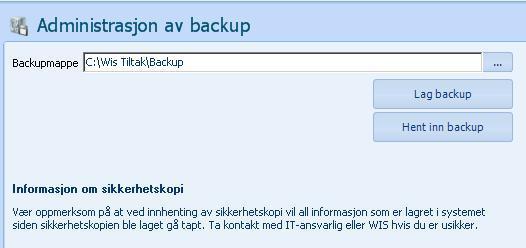 Backup,skjermdump